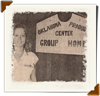 woman standing next to sign that reads 'Production Center Group Home